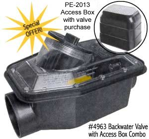 Special Offer; free access box with backwater valve purchase