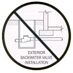 adapt a valve backwater valve installation